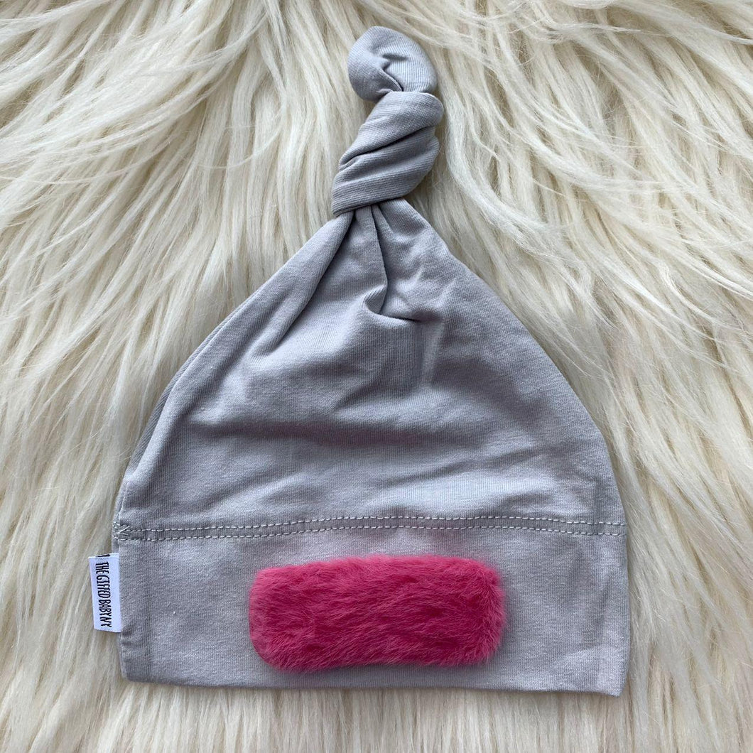 Light Gray Hat Pink Linear - The Gifted Baby NY
