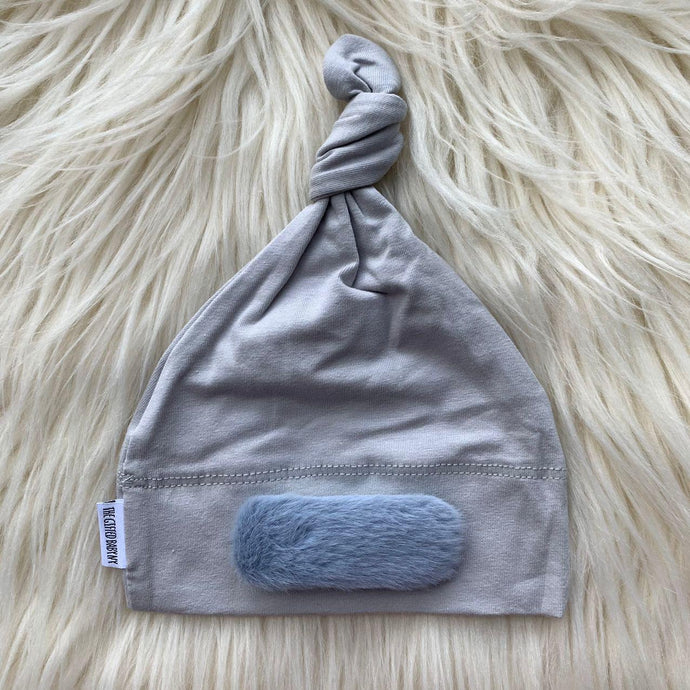 Light Gray Hat Blue Linear - The Gifted Baby NY