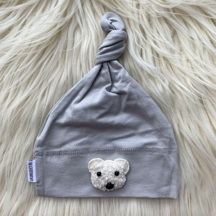 Light Gray Hat White Teddy - The Gifted Baby NY