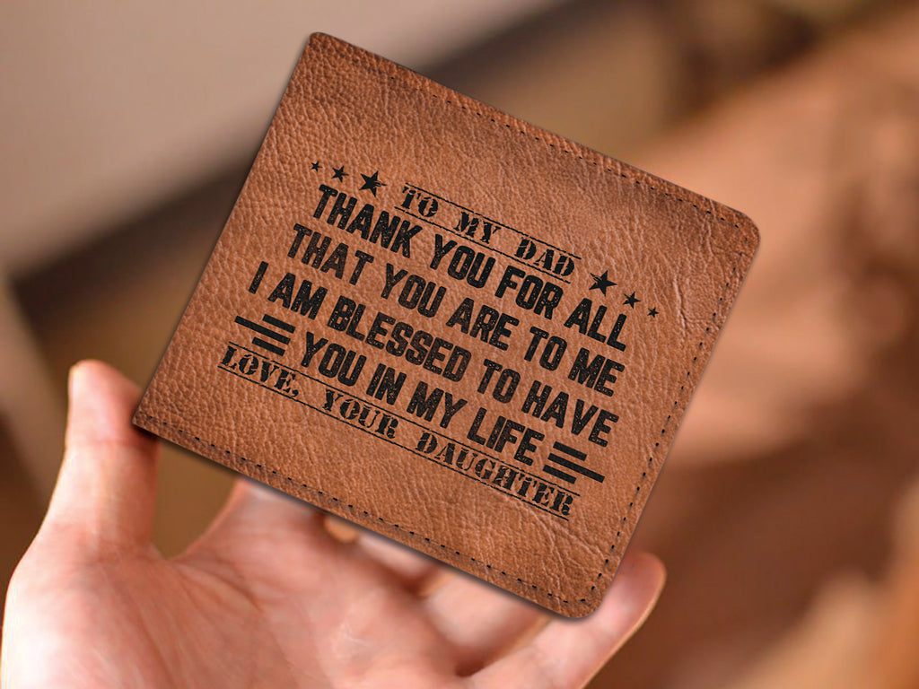 'THANK YOU DAD - LOVE, DAUGHTER' WALLET