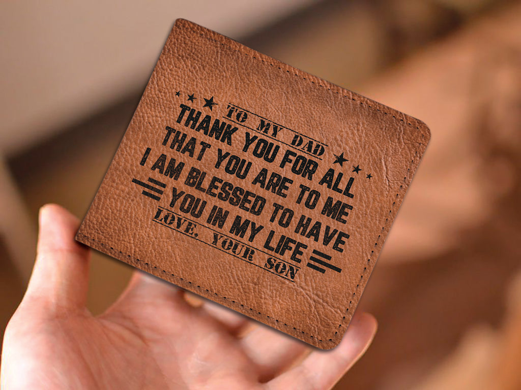 'THANK YOU DAD - LOVE, SON' WALLET