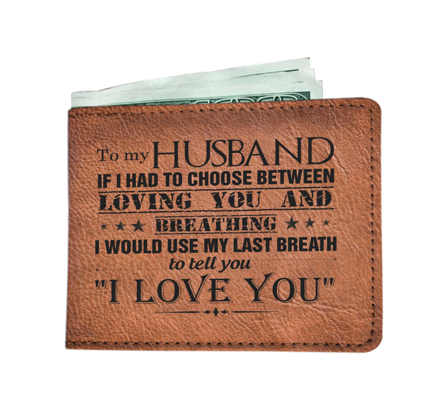 TO MY HUSBAND - I LOVE YOU WALLET