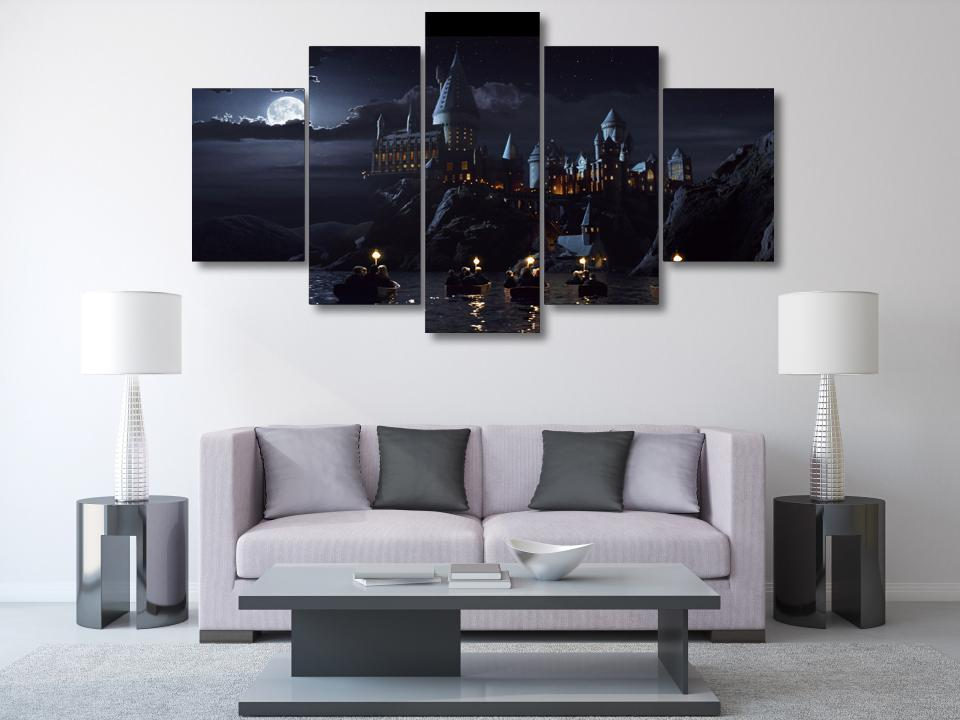 5 Pieces Harry Potter School Castle Wall Art Picture