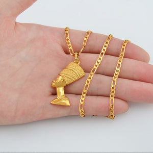 Egyptian Queen Pendant Necklaces for Women Men