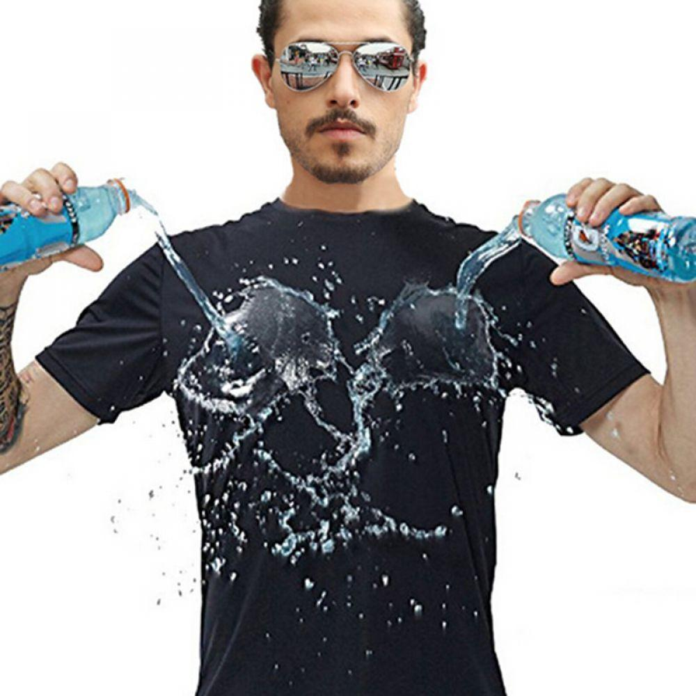 Anti-Dirty Waterproof Men T Shirt Quick Dry Top Short