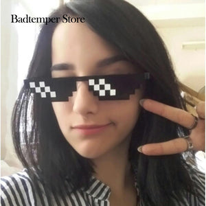 2018 Trending Minecraft Polygonal Thug Life Sunglasses - 8 Bits Style Pixel