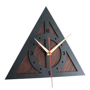 New 3DThe Deathly Retro Clocks Wooden Wall Watch 12 inch