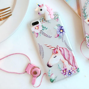 Hot Sale 3D Unicorn Flower For iPhone
