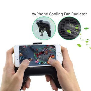 New Arrival Phone Cooling Fan Handle Game Pad with Mini Power Bank