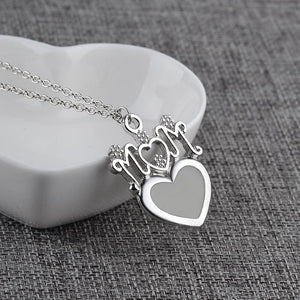 Mother's Day Gift - Glow In The Dark Mom Pendant Heart Chain Necklace