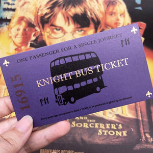 New Arrival Hogwarts London Express Replica Train Ticket and Knight Bus Ticket