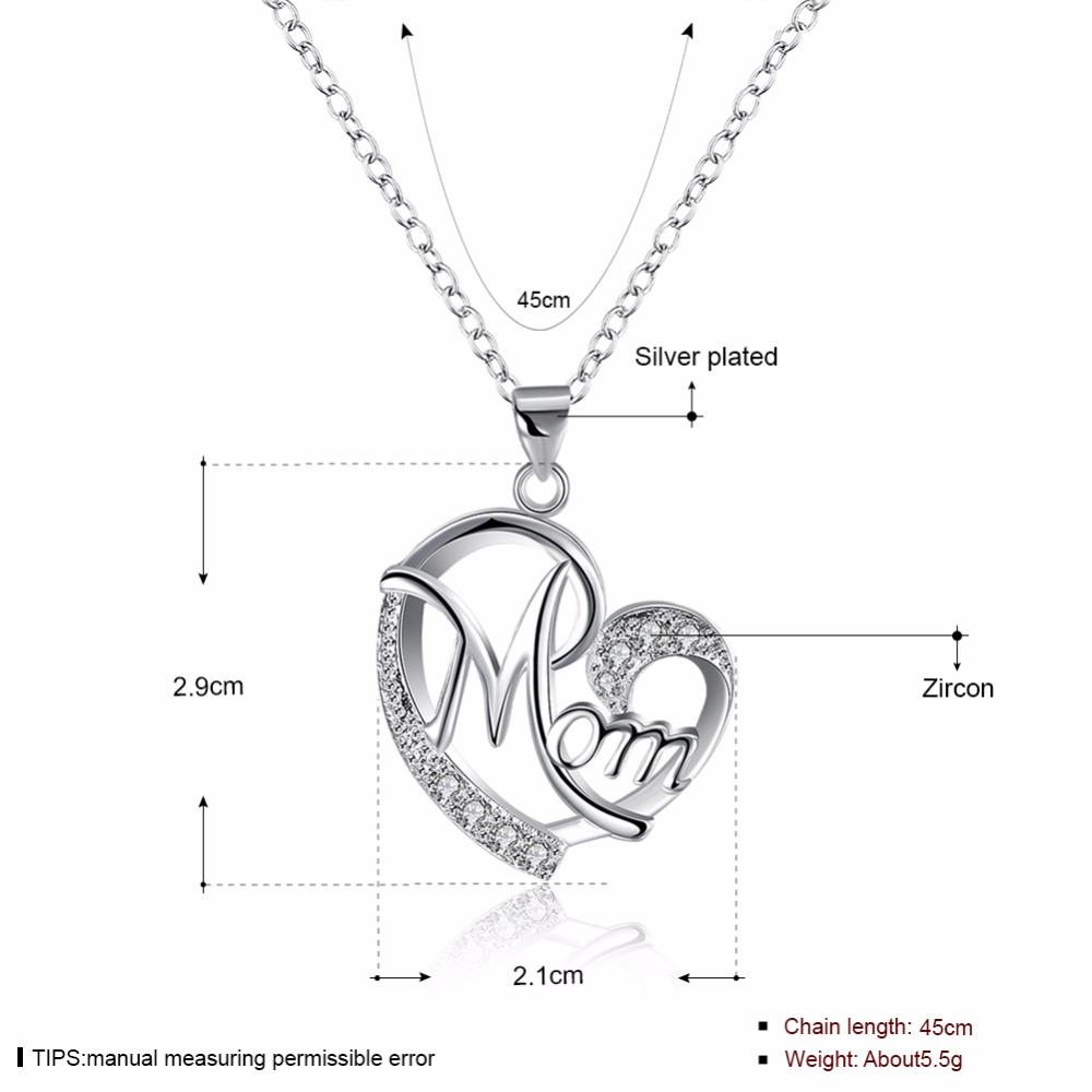 Mother's Day Gift - Love Mom Gift Pendant Necklace