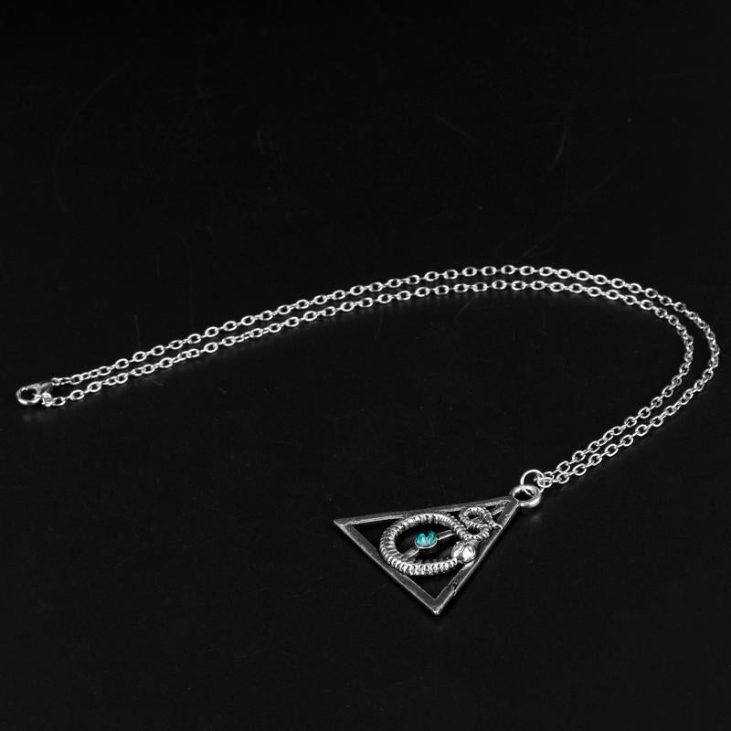Hot Sale Deathly Hallows Alloy Pendent Charm Necklace