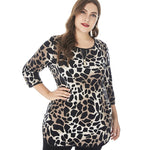New Plus Size Leopard Women long sleeve
