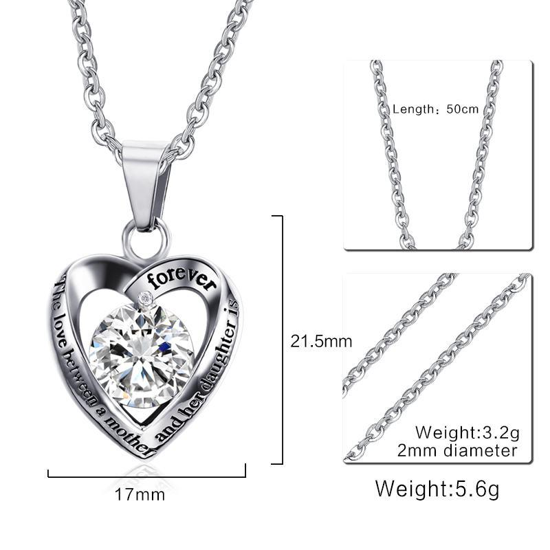 Mother's Gift Necklace- The Love Between Mother and Her Daughter Is forEver
