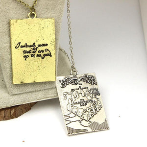 The Marauder 's Marauders Map Hogwarts Pendant