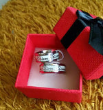 Valentine Gift Stainless Steel Luminous Rings for Couples Glow In the Dark