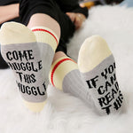 New Arrival Harry Potter  Snuggle This Muggle  Valentine Gift Sock