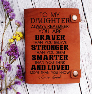 To my Daughter Leather journal