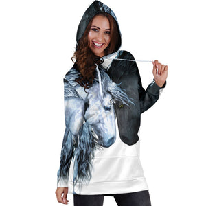Two Horses Art New Hoodie