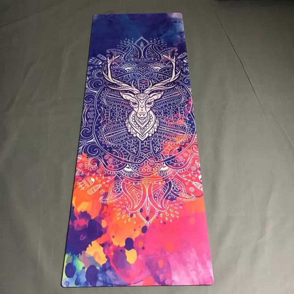 Natural Rubber eco-friendly slip-resistant Hot Yoga mat