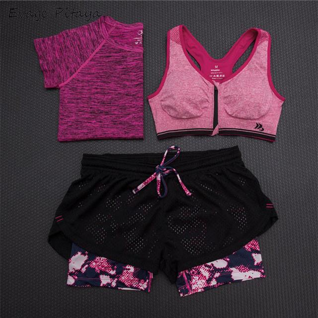 2017 3 Pieces Women Fitness Yoga Set