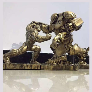 Limited Edition 2pcs /Set Hulk VS iron man Figure