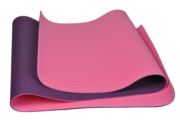 2017High Quality Folding Non-slip Surface  6mm Natural Rubber TPE Yoga Mat for Beginner with Bag