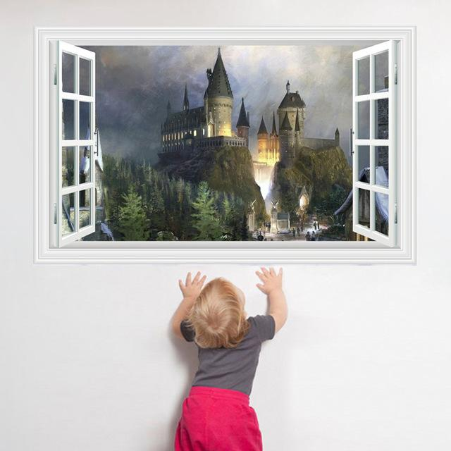 School of magic castle 3D Harry Potter Wall Stickers