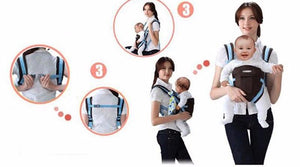 2-30 Months Breathable Front Facing Baby Carrier 4 in 1 Infant Comfortable Sling Backpack