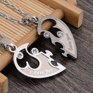 I Love You Husband and Wife Necklace