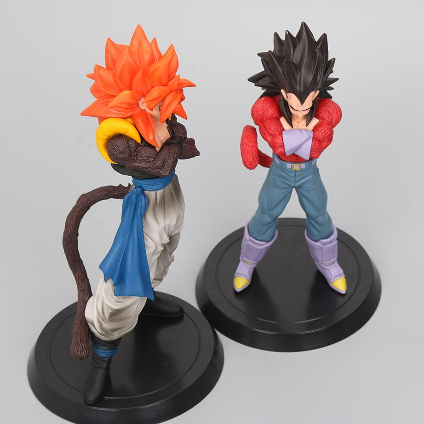 Hot 2017 Gift 18-20cm Super Saiyan 4 Son Goku Vegeta  Figures