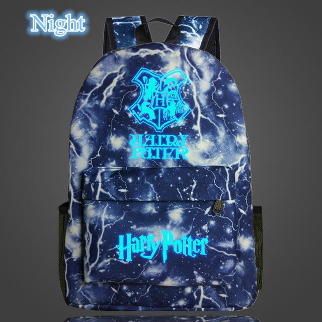New Arrival Harry Potter Glow in the Dark Backpack