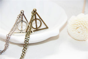 Harry Potter Necklaces Triangle Deathly Hallow