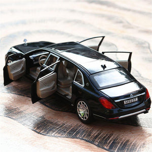 New Arrival 1/24 Maybach S600 Metal Car Model - 6 Doors Can Be Opened