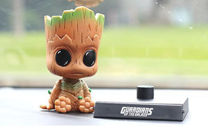 New Arrival Groot Figure Shaking His Head Doll Car Furnishing 12CM