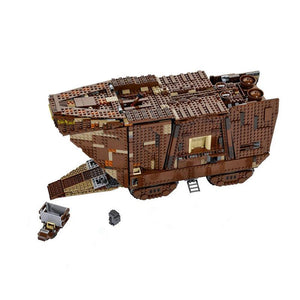 Hot Christmas Gift 2017 Star Force Awakens Sandcrawler Wars with 3346Pcs