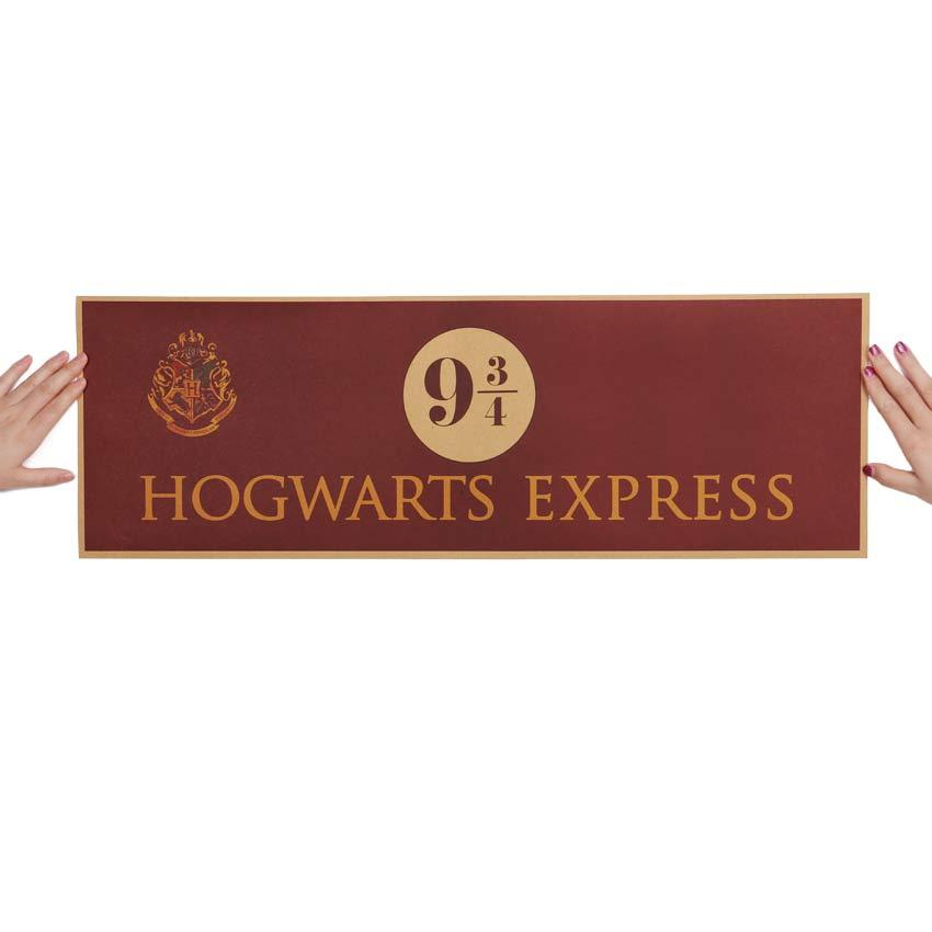9-3/4 Platform Harry Potter Vintage Paper Decoration Poster Wall Stickers