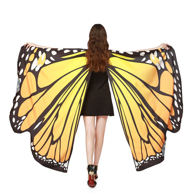 2019 HOT Women Butterfly Wings Beach Costume Cloak