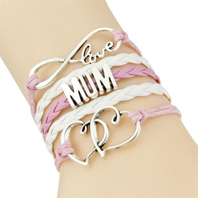Mother's Day gift infinity love MUM Bracelet