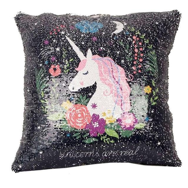 New Unicorn Cushion Covers - Two Color Changing Reversible