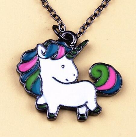 Hot Sale Cute Rainbow Horse Unicorn Necklaces