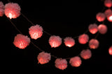Pink Pom-Pom Recycled String Lights