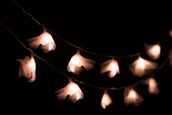 Blush Pink Tulle Recycled String Lights