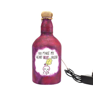 Heart Beet Faster Recycled Bottle Lamp
