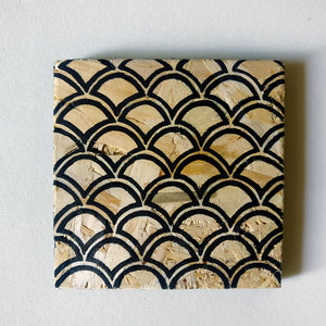 Hand-painted Natural Aztec Coasters