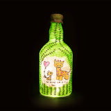 Look up to You Recycled Bottle Lamp