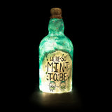 Mint To Be Recycled Bottle Lamp