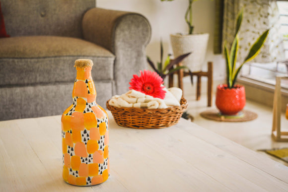 Color-Pop Bottle Lamp