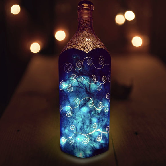 Midnight Magic Bottle Lamp